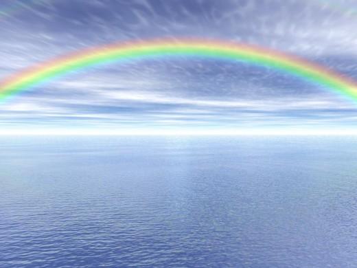 paesaggio con arcobaleno